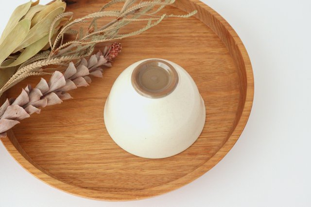 萬古焼 冠 湯呑 粉引き 陶器 画像3