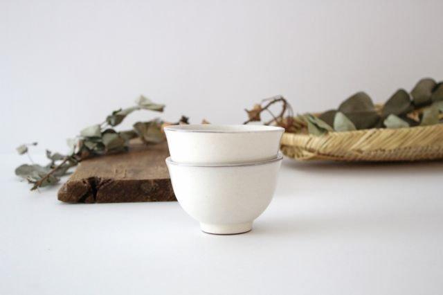 萬古焼 冠 湯呑 粉引き 陶器 画像4