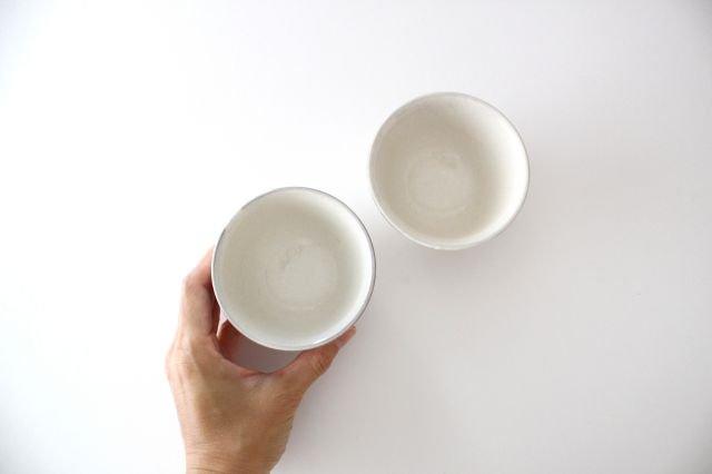 湯呑 粉引き 陶器 冠 萬古焼  画像5