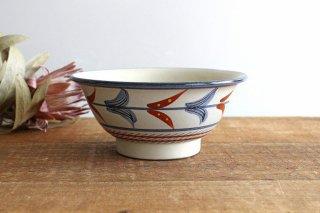 そばマカイ 赤絵ブーゲンビリア 陶器 壷屋焼 陶眞窯 やちむん商品画像