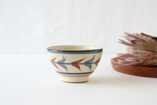 汁マカイ 赤絵ブーゲンビリア 陶器 壷屋焼 陶眞窯 やちむん商品画像