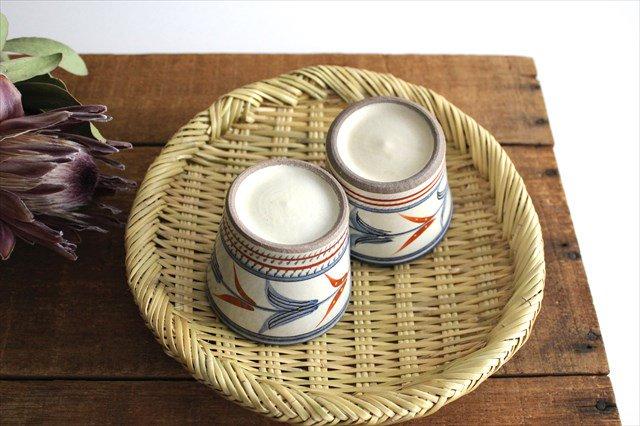 そばちょこ 小 赤絵ブーゲンビリア 陶器 壷屋焼 陶眞窯 やちむん 画像3