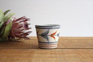 そばちょこ 小 赤絵ブーゲンビリア 陶器 壷屋焼 陶眞窯 やちむん商品画像