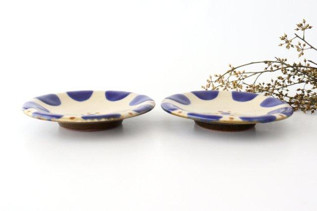 5寸皿 チチチャンコバルト 陶器 ノモ陶器製作所 やちむん 画像2