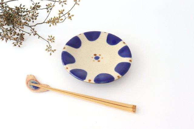 5寸皿 チチチャンコバルト 陶器 ノモ陶器製作所 やちむん 画像3