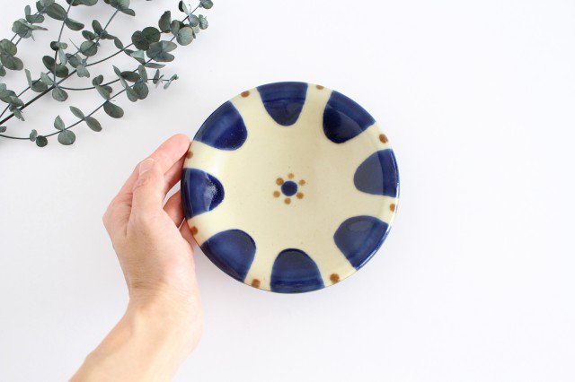 5寸皿 チチチャンコバルト 陶器 ノモ陶器製作所 やちむん 画像5