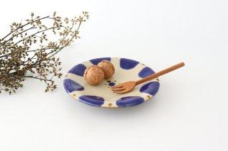 5寸皿 コバルトチチチャン 陶器 ノモ陶器製作所 やちむん商品画像