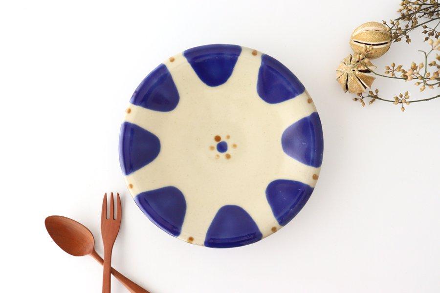 7寸皿 チチチャンコバルト 陶器 ノモ陶器製作所 やちむん