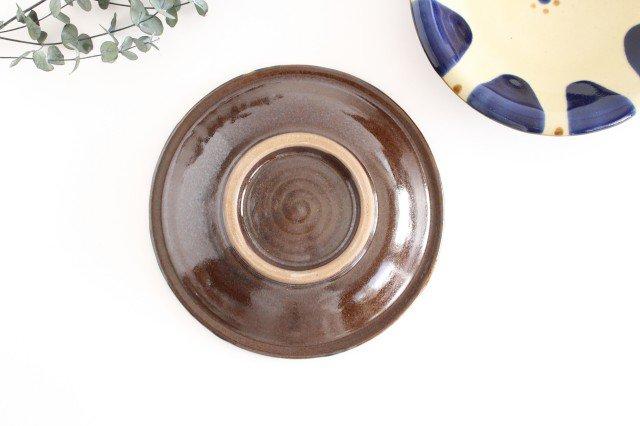 7寸皿 コバルトチチチャン 陶器 ノモ陶器製作所 やちむん 画像2