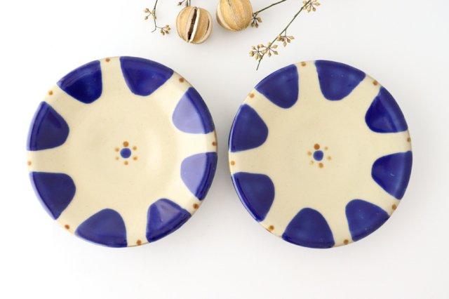 7寸皿 コバルトチチチャン 陶器 ノモ陶器製作所 やちむん 画像3
