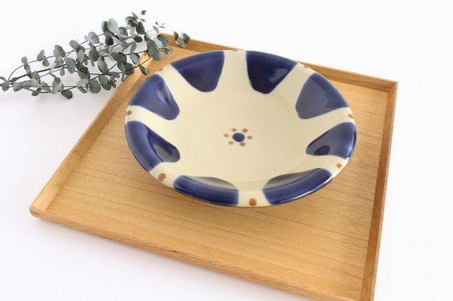 7寸皿 チチチャンコバルト 陶器 ノモ陶器製作所 やちむん 画像4