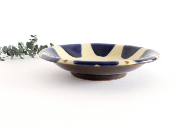 7寸皿 コバルトチチチャン 陶器 ノモ陶器製作所 やちむん 画像5