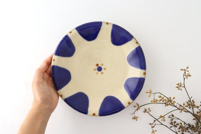 7寸皿 チチチャンコバルト 陶器 ノモ陶器製作所 やちむん 画像6