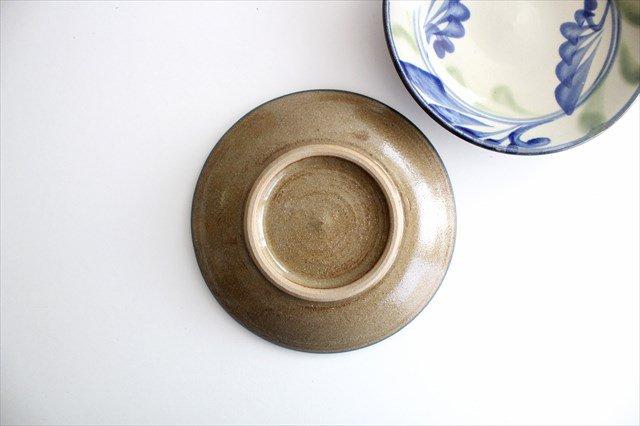 5寸皿 線引唐草 陶器 壷屋焼 陶眞窯 やちむん 画像3