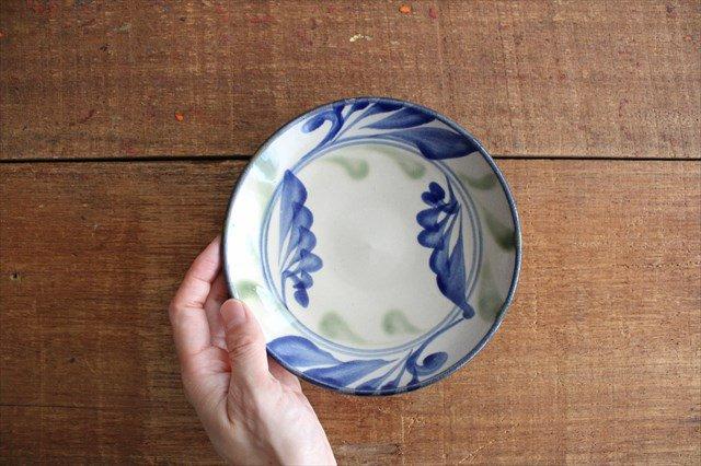 5寸皿 線引唐草 陶器 壷屋焼 陶眞窯 やちむん 画像5