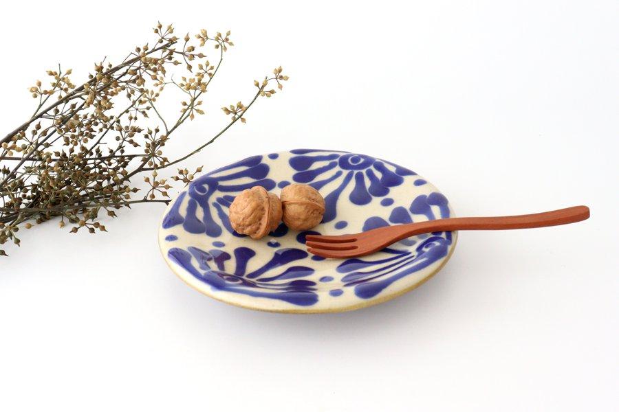 6寸皿 コバルト 陶器 ノモ陶器製作所 やちむん