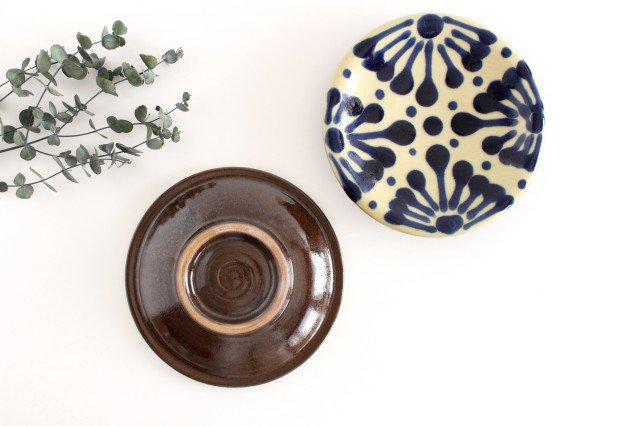 6寸皿 コバルト 陶器 ノモ陶器製作所 やちむん 画像2