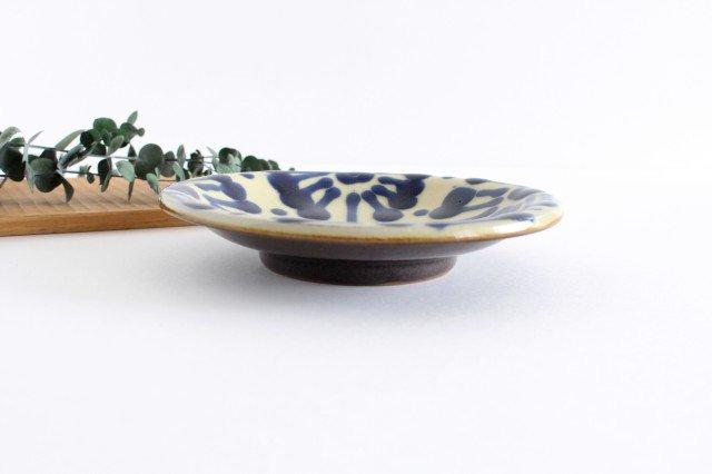6寸皿 コバルト 陶器 ノモ陶器製作所 やちむん 画像5