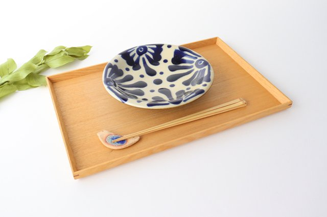 6寸皿 コバルト 陶器 ノモ陶器製作所 やちむん 画像6