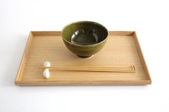 しのぎ飯碗 オリーブ 磁器 皓洋窯 有田焼 画像2