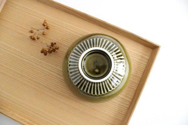 しのぎ飯碗 オリーブ 磁器 皓洋窯 有田焼 画像4