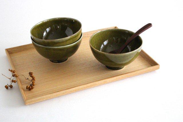 しのぎ飯碗 オリーブ 磁器 皓洋窯 有田焼 画像5
