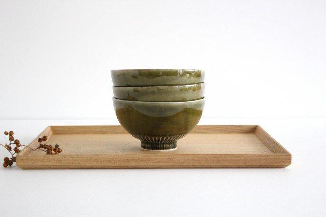 しのぎ飯碗 オリーブ 磁器 皓洋窯 有田焼 画像6