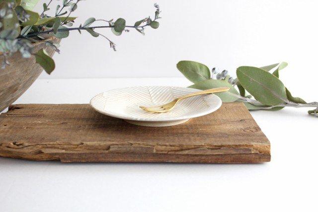 波佐見焼 ORIME ヘリンボーン 4寸丸皿 【B】 ホワイト 陶器 画像2