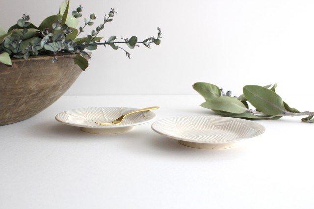 波佐見焼 ORIME ヘリンボーン 4寸丸皿 【B】 ホワイト 陶器 画像4