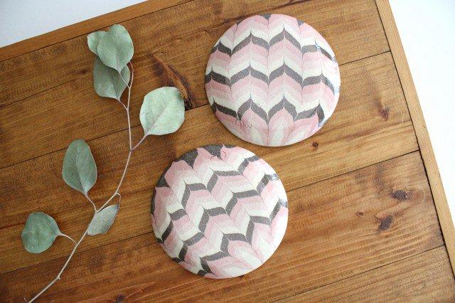 丸皿 小 羽根 ピンク 陶器 陶芸工房ももねり。 草なぎ桃江 画像3