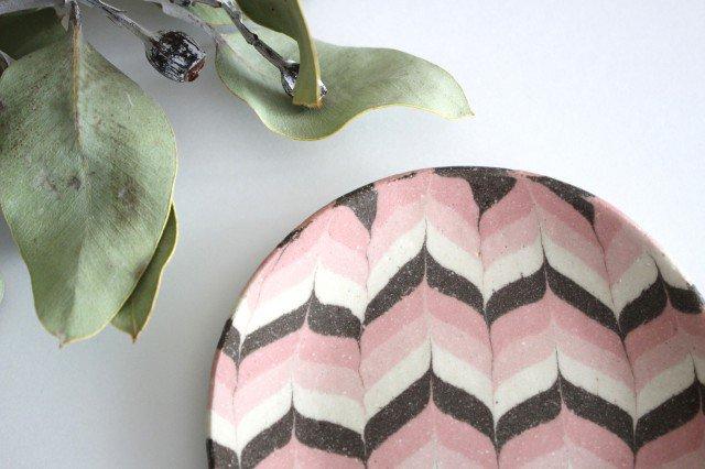 丸皿 小 羽根 ピンク 陶器 陶芸工房ももねり。 草なぎ桃江 画像5