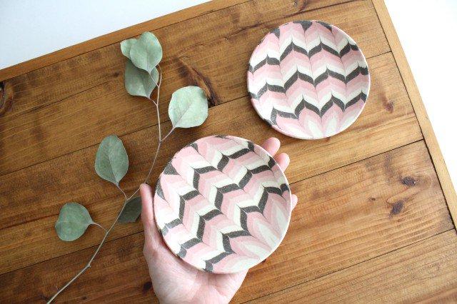 丸皿 小 羽根 ピンク 陶器 陶芸工房ももねり。 草なぎ桃江 画像6