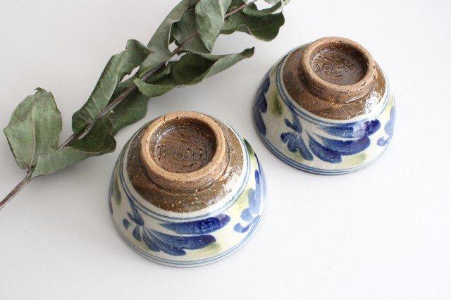 4寸マカイ 唐草 ゴスオーグスヤ 陶器 陶芸こまがた 駒形爽飛 やちむん 画像2