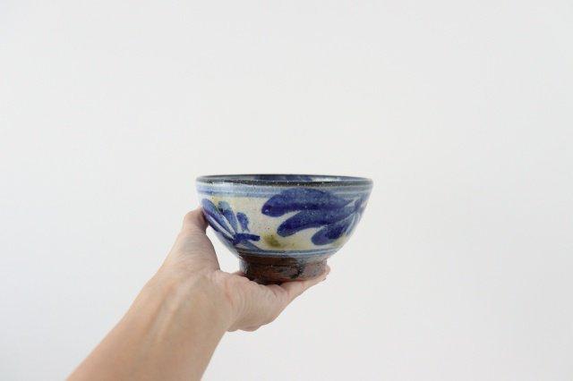 4寸マカイ 唐草 ゴスオーグスヤ 陶器 陶芸こまがた 駒形爽飛 やちむん 画像5
