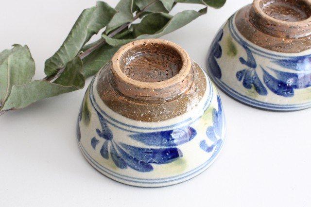 4寸マカイ 唐草 ゴスオーグスヤ 陶器 陶芸こまがた 駒形爽飛 やちむん 画像6