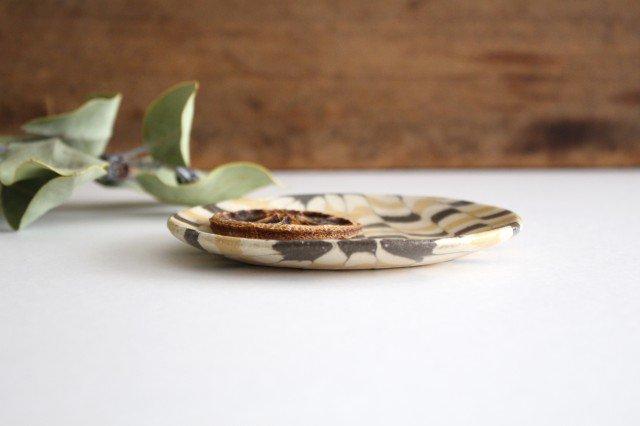 丸皿 小 波 黄色 陶器 陶芸工房ももねり。 草なぎ桃江 画像2