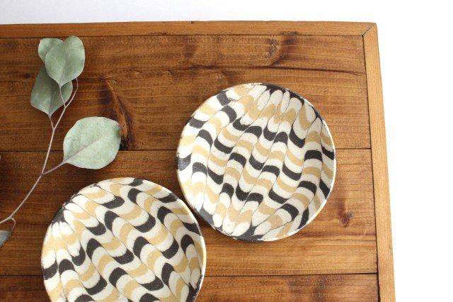 丸皿 小 波 黄色 陶器 陶芸工房ももねり。 草なぎ桃江 画像3