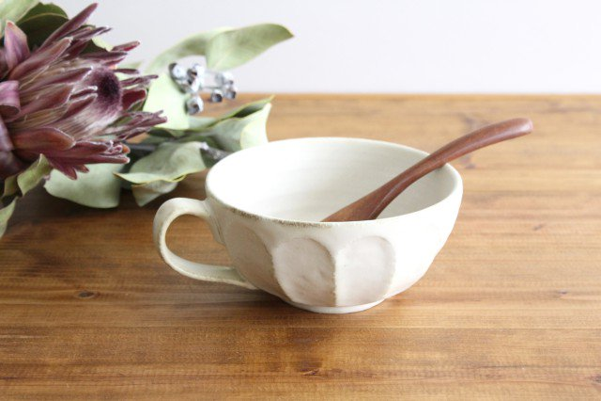 美濃焼 菊花 スープカップ 磁器
