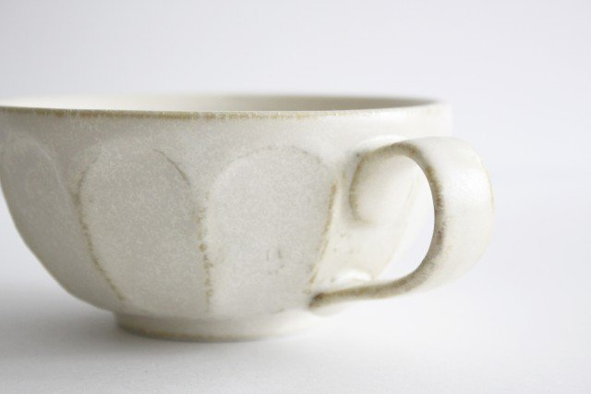 美濃焼 菊花 スープカップ 磁器 画像4