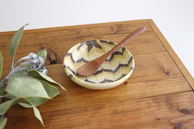 小鉢 羽根 黄色 陶器 陶芸工房ももねり。 草なぎ桃江