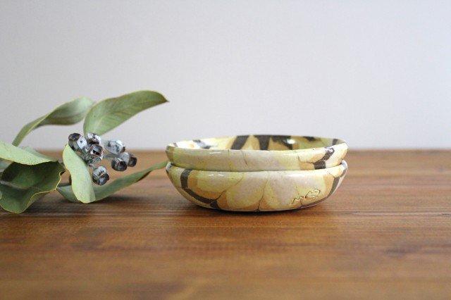 小鉢 羽根 黄色 陶器 陶芸工房ももねり。 草なぎ桃江 画像2
