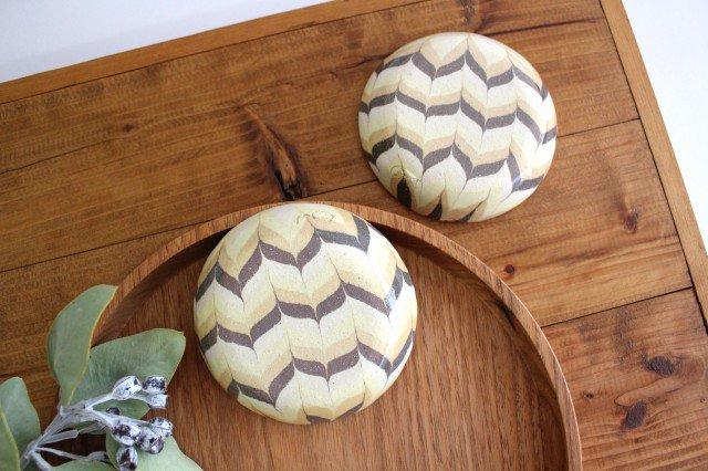 小鉢 羽根 黄色 陶器 陶芸工房ももねり。 草なぎ桃江 画像3