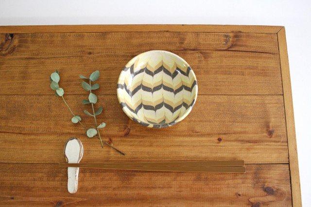 小鉢 羽根 黄色 陶器 陶芸工房ももねり。 草なぎ桃江 画像6