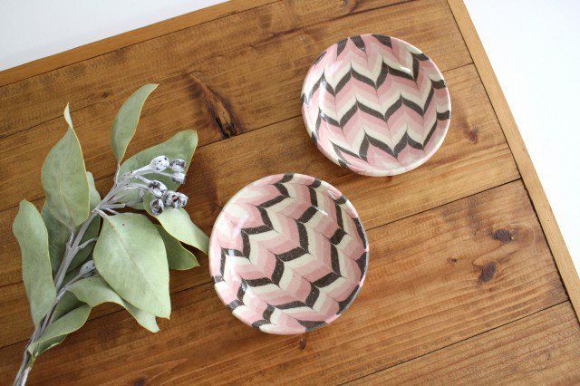 小鉢 羽根 ピンク 陶器 陶芸工房ももねり。 草なぎ桃江