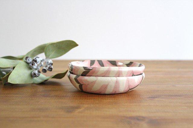 小鉢 羽根 ピンク 陶器 陶芸工房ももねり。 草�桃江 画像2