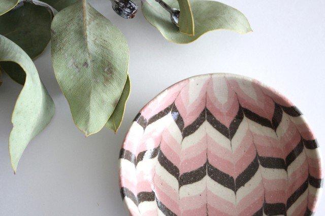 小鉢 羽根 ピンク 陶器 陶芸工房ももねり。 草�桃江 画像3