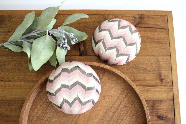小鉢 羽根 ピンク 陶器 陶芸工房ももねり。 草�桃江 画像5