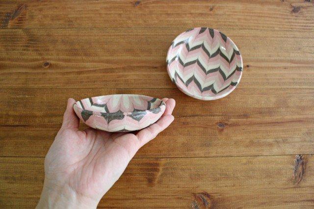 小鉢 羽根 ピンク 陶器 陶芸工房ももねり。 草�桃江 画像6