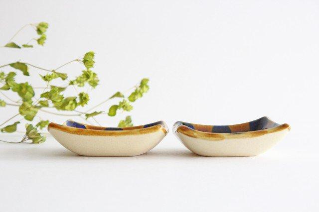 四角小鉢 輪 陶器 土工房 陶糸 やちむん 画像2