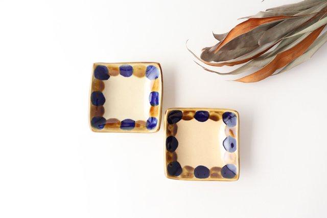 四角小鉢 輪 陶器 土工房 陶糸 やちむん 画像4